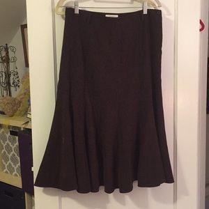 Dark Brown suede fabric skirt